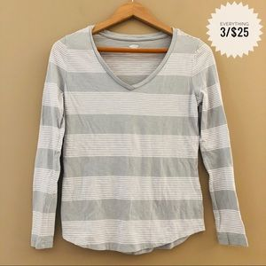 Women's OLD NAVY striped long sleeve top